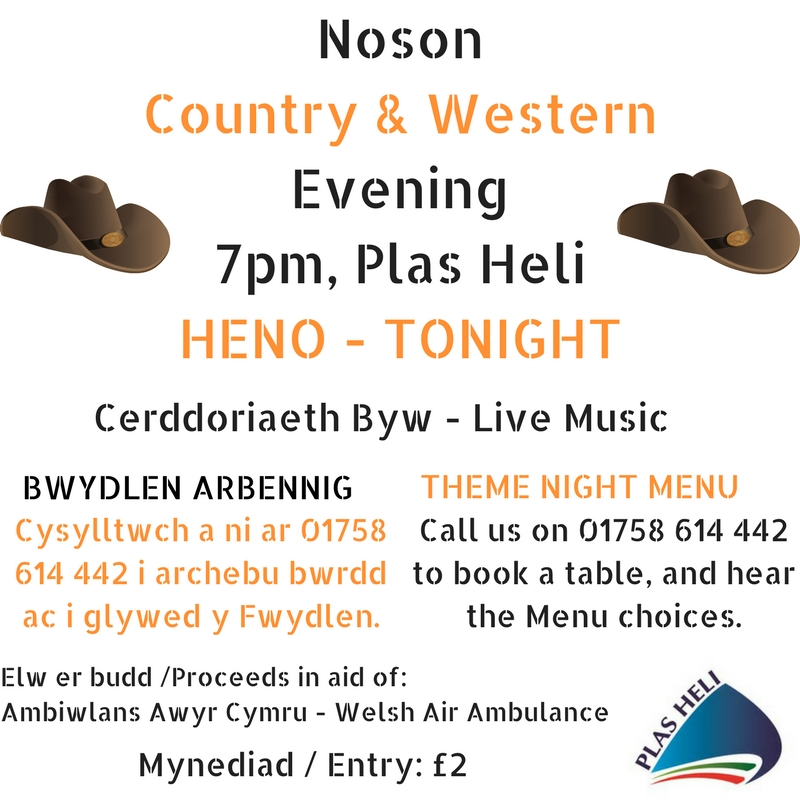 Noson Country Western Evening